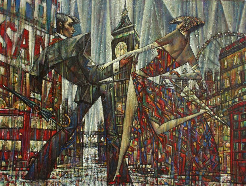 Живопись_Андрей-Процюк_Cities-of-Romonce_London-Time
