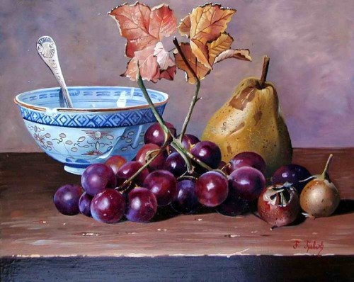 Ф.Тулок.Виноград и груша