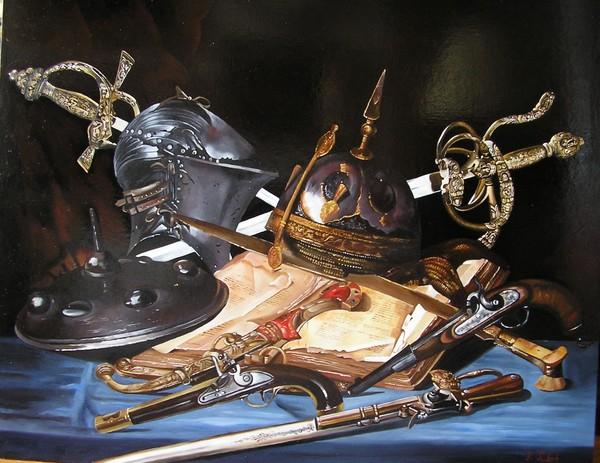 Ф.Тулок.Натюрморт со шлемом и каской