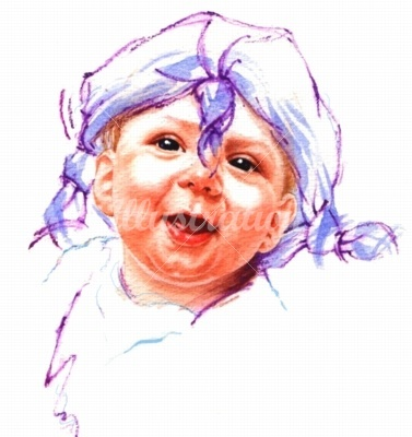 watercolor-portrait-baby-girl