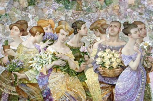 2011 Цветы 100х150