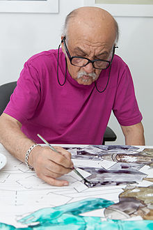 ali_akbar_sadeghi_in_his_studio_2014