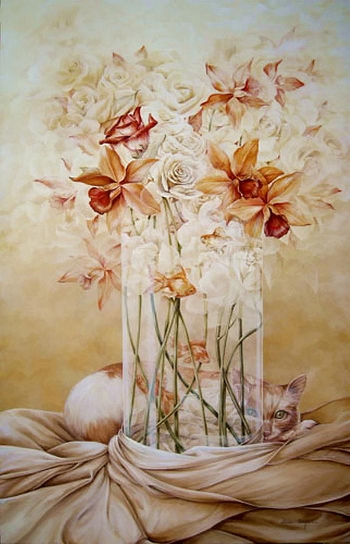 Chel_n Sanjuan 1967 - Spanish Magical Realism painter - Tutt'Art@ (10)
