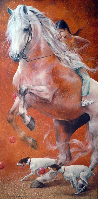Chel_n Sanjuan 1967 - Spanish Magical Realism painter - Tutt'Art@ (18)