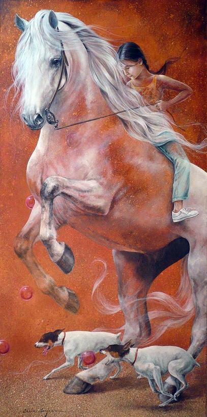 Chel_n Sanjuan 1967 - Spanish Magical Realism painter - Tutt'Art@ (18)