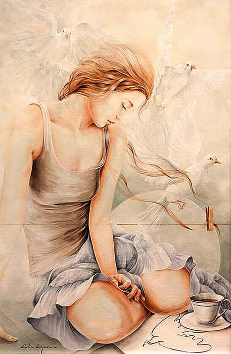 Chel_n Sanjuan 1967 - Spanish Magical Realism painter - Tutt'Art@ (21)