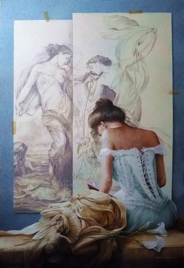 Chel_n Sanjuan 1967 - Spanish Magical Realism painter - Tutt'Art@ (27)