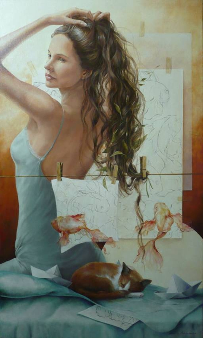 Chel_n Sanjuan 1967 - Spanish Magical Realism painter - Tutt'Art@ (32)
