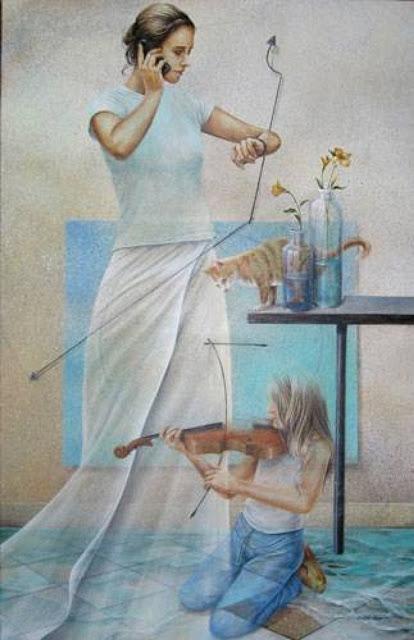 Chel_n Sanjuan 1967 - Spanish Magical Realism painter - Tutt'Art@ (36)