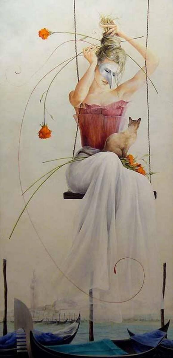 Chel_n Sanjuan 1967 - Spanish Magical Realism painter - Tutt'Art@ (4)