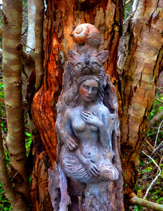forest-woman-and-fox-driftwood-sculpture