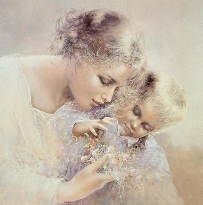 Эффектом, открытки мамы и дочки