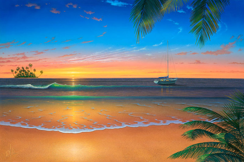 Sunset-Painting_Island-Romance