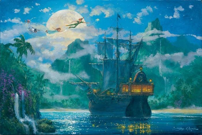 Walt Disney Fine Art - James Coleman 1949  - American Impressionist  painter - Tutt'Art@ - (1)