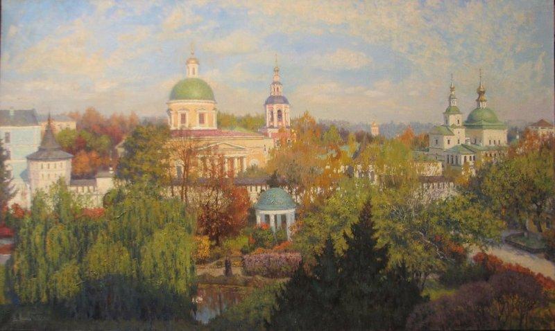 danilov_monastery___2011___oil_canvas___100x60_cm_by_vladimir_kireev-d5vz16w