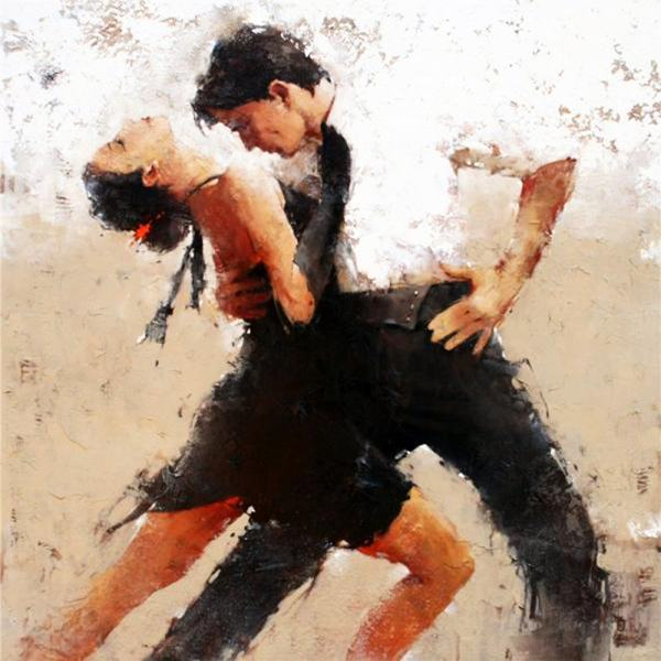 impression-figure-tango-dancers-canvas-prints-oil-painting-printed-on-canvas-hotel-dance-studio-wall-decoration