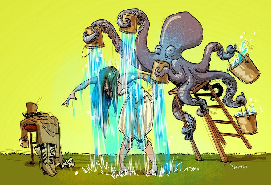 octopus-otto-and-victoria-steampunk-illustrations-brian-kesinger-5-59438b5261e8a__880