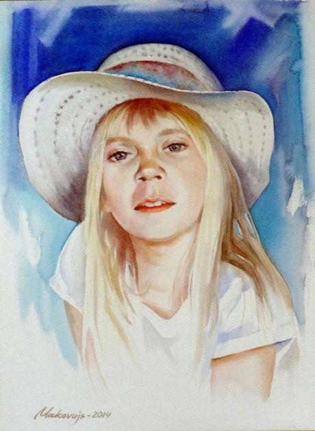 portret-devochki-v-beloy-shlyapke_makovoy_valeriy_1402956989