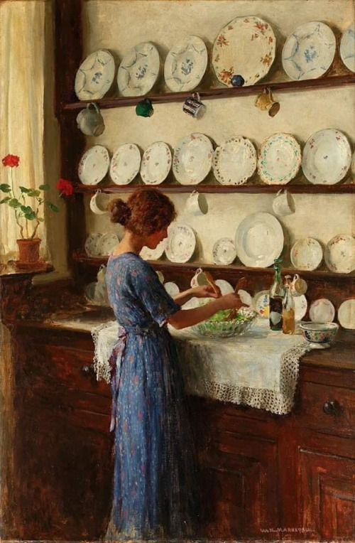 william_henry_margetson_the_lady_of_the_house