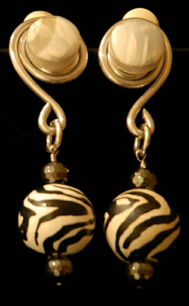 zebra-painted-earrings